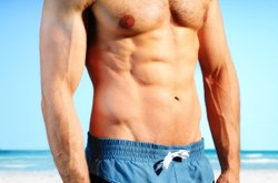 Show Off Your Ripped Six Pack Abs on the Beach
